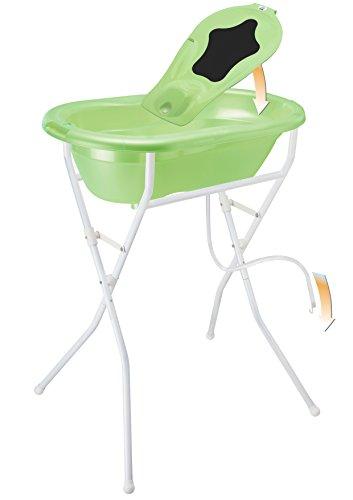 Rotho Babydesign Badelösung TOP / Babybadewanne mit Ständer 98 cm hoch, einklappbar / Baby Badeset...