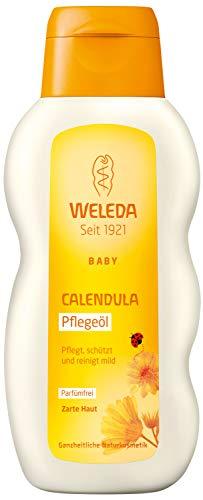 WELEDA Baby Calendula Pflegeöl Parfümfrei, Naturkosmetik Babyöl für die Pflege, Reinigung und...