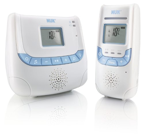 NUK Babyphone Eco Control+ DECT 267 mit Full Eco Mode, Display, Nachtlicht und Schlafliedfunktion