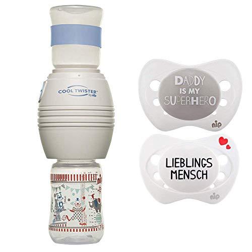 NIP Flaschenkühler Cool Twister inkl. 2 x Schnuller Sonderedition // 2 x Schutzhaube