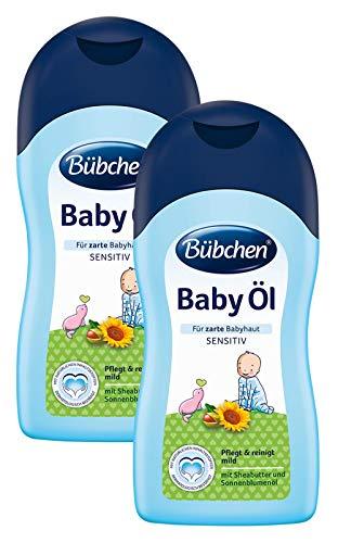 Bübchen Baby Öl, sensitives Körperöl für zarte Babyhaut, mit Sheabutter und Sonnenblumenöl,...