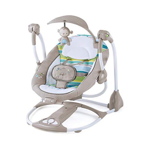 Ingenuity, Candler 2 in 1 Babyschaukel und -sitz, zusammenklappbar, mit Vibrationen, 5...