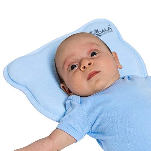DAS ORIGINAL - Orthopädisches Babykissen gegen Plattkopf mit zwei Bezügen zur Heilung und Vorsorge...