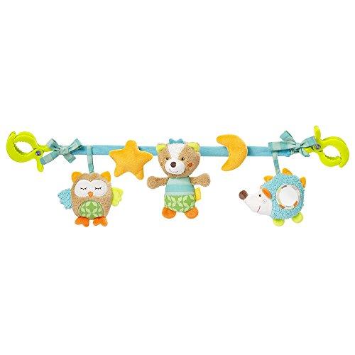 Fehn 071535 Kinderwagenkette Sleeping Forest – Mobile-Kette mit niedlichen Figuren zum Aufhängen...