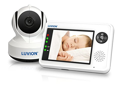 LUVION ESSENTIAL - Babyphone mit Kamera - 3.5 Zoll Farbdisplay - Weiß Schwarz