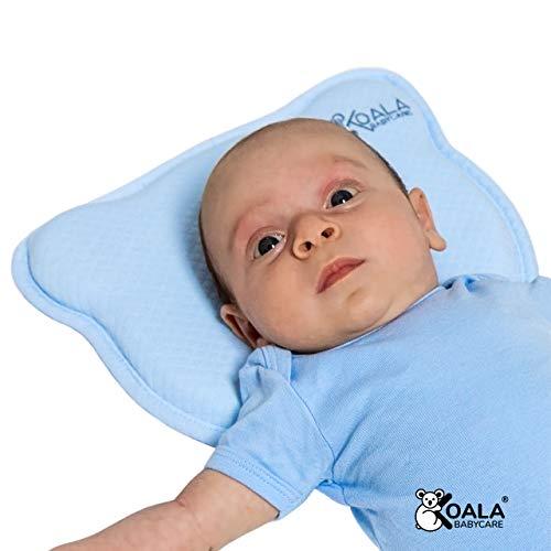 DAS ORIGINAL Koala Babycare® - Orthopädisches Babykissen gegen Plattkopf mit zwei Bezügen zur...