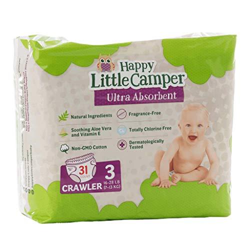 Happy Little Camper Premium Windeln, besonders saugfähig, Größe 3 (7-13 kg), 31 Stück
