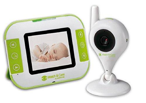 Audioline Watch & Care V130 - Video-Babyphone mit Nachtlicht und Gegensprechfunktion
