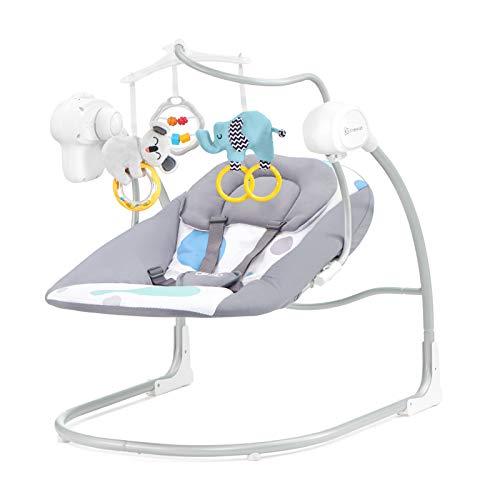 Kinderkraft Babywippe MINKY, Babyschaukel, Wippe, Schaukelwippe mit Vibration, Spielbogen, Spielzeug...