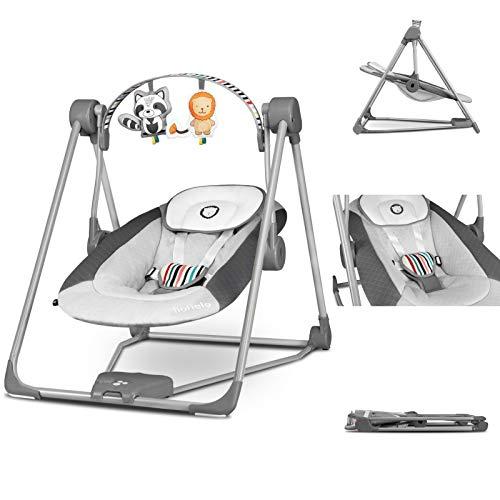Lionelo Otto Baby Wippe Baby Schaukel Spielbogen mit interaktiven Spielzeugen 5 Schaukel...