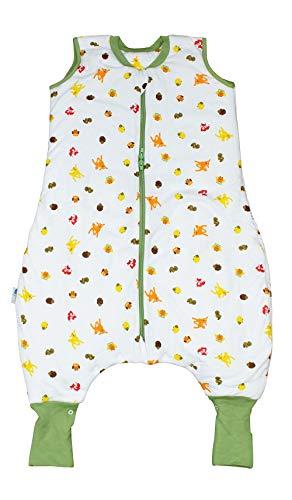 Schlummersack Ganzjahres Schlafsack mit Füssen und verlängerten Fußbündchen zum Umklappen 2.5...