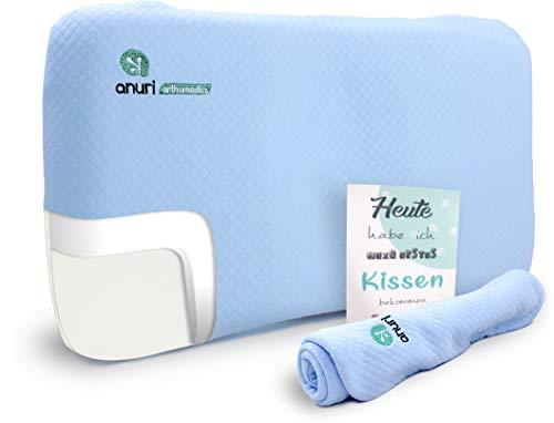 ANURI | Babykissen gegen Plattkopf und Kopfverformung I 2-SCHICHTEN Protect System | Baby-Kopfkissen...