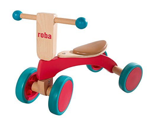 roba Holz Rutscher, Kinderfahrzeug aus Holz, Kleinkind Laufrad/Sitzroller ab 1 Jahr