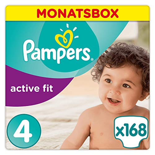 Pampers Active Fit Windeln Monatsbox, Größe 6, 15+kg, 120 Windeln