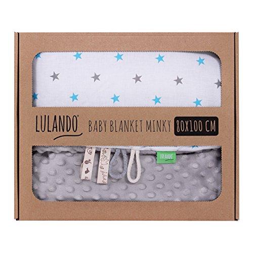 LULANDO Babydecke Kuscheldecke Krabbeldecke aus 100% Baumwolle (80x100 cm). Super weich und...