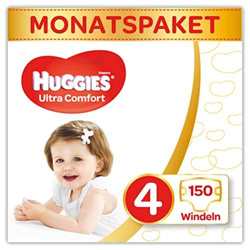 Huggies Windeln Ultra Comfort Baby Größe 4 Monatsbox, 3er Pack (3 x 50 Stück)