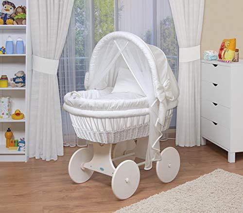 WALDIN Baby Stubenwagen-Set mit Ausstattung,XXL,Bollerwagen,komplett,44 Modelle...