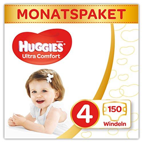 Huggies Windeln Ultra Comfort Baby Größe 4 Monatsbox, 1er Pack (1 x 150 Stück)