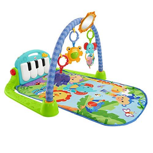 Fisher-Price BMH49 - Rainforest Piano Gym Baby Spieldecke mit Musik und Licht inkl. Spielzeug grün...