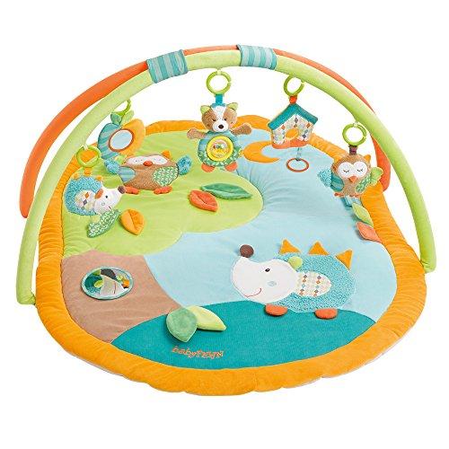 Fehn 071559 3-D-Activity-Decke Sleeping Forest / Spielbogen mit 5 abnehmbaren Spielzeugen für Babys...
