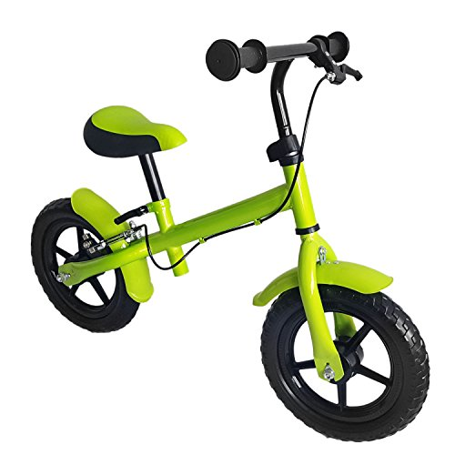 M&G Techno Kinder Laufrad, mit Handbremse, Räder ca. 30,3 cm (12 Zoll), apfelgrün grün,...