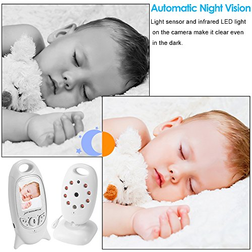 Babyphone Baby Monitor Wireless Live Kamera + Talk-Back Zwei-Wege Audio + Nachtsicht Temp Sensor +...
