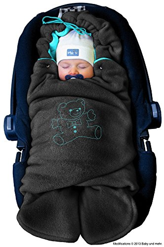 ByBoom - Baby Winter-Einschlagdecke 'Das Original mit dem Bären', Universal für Babyschale,...